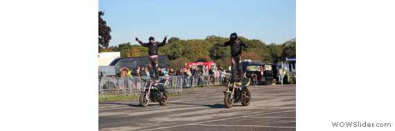 The amazing Two Brothers Stunt Team