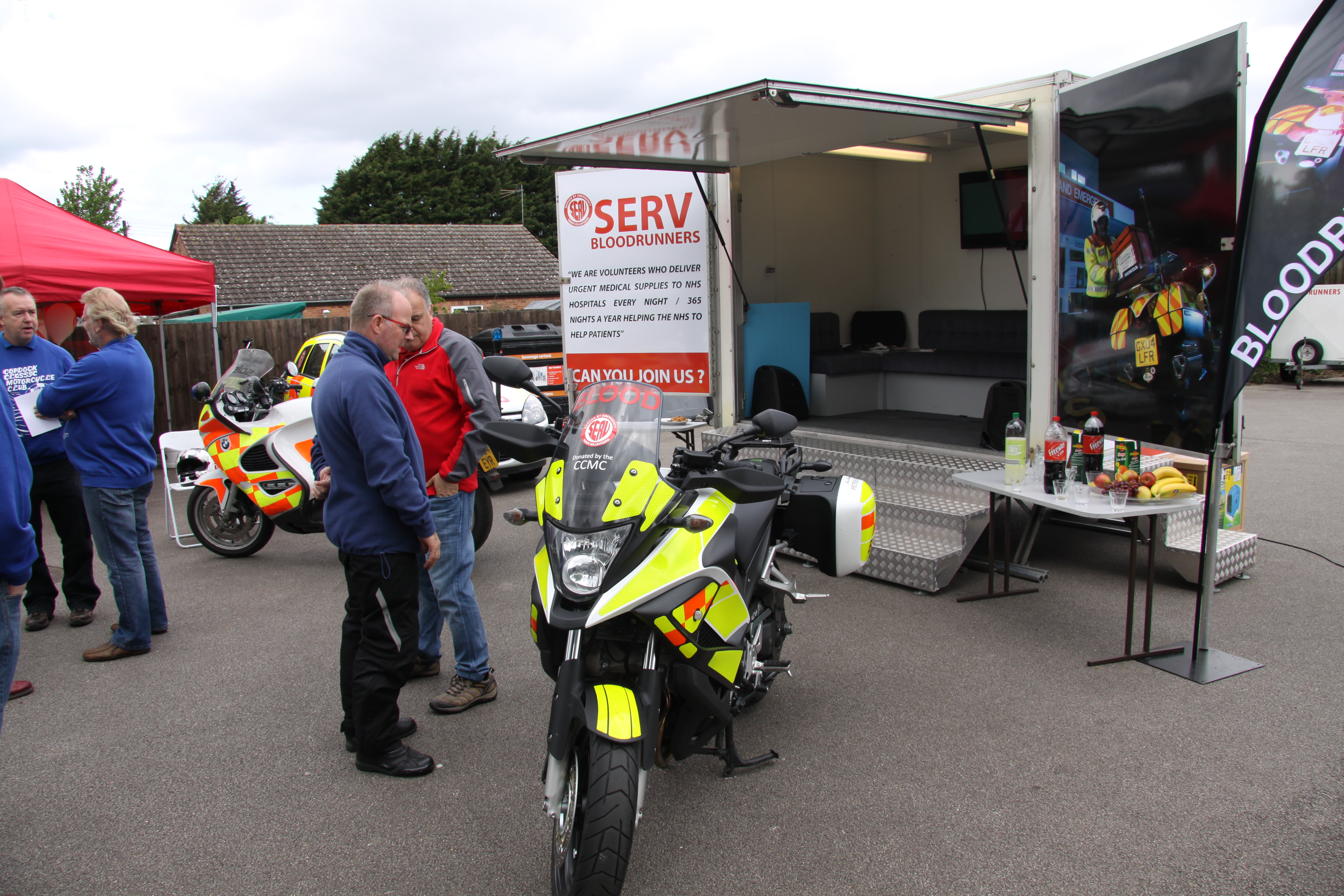 ccmc homepage gt picture gallery gt unveiling of the new serv bloodbike